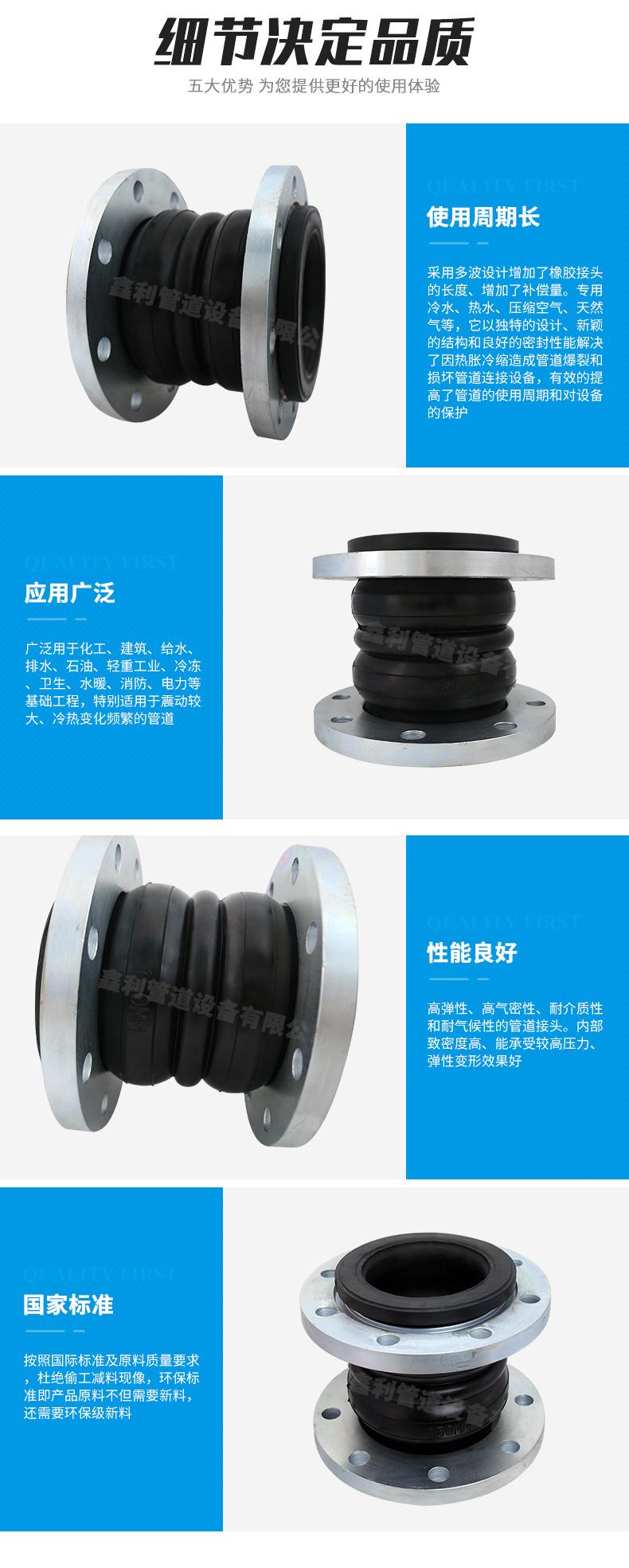 橡胶软接头常常安裝在管道上的哪些位置?