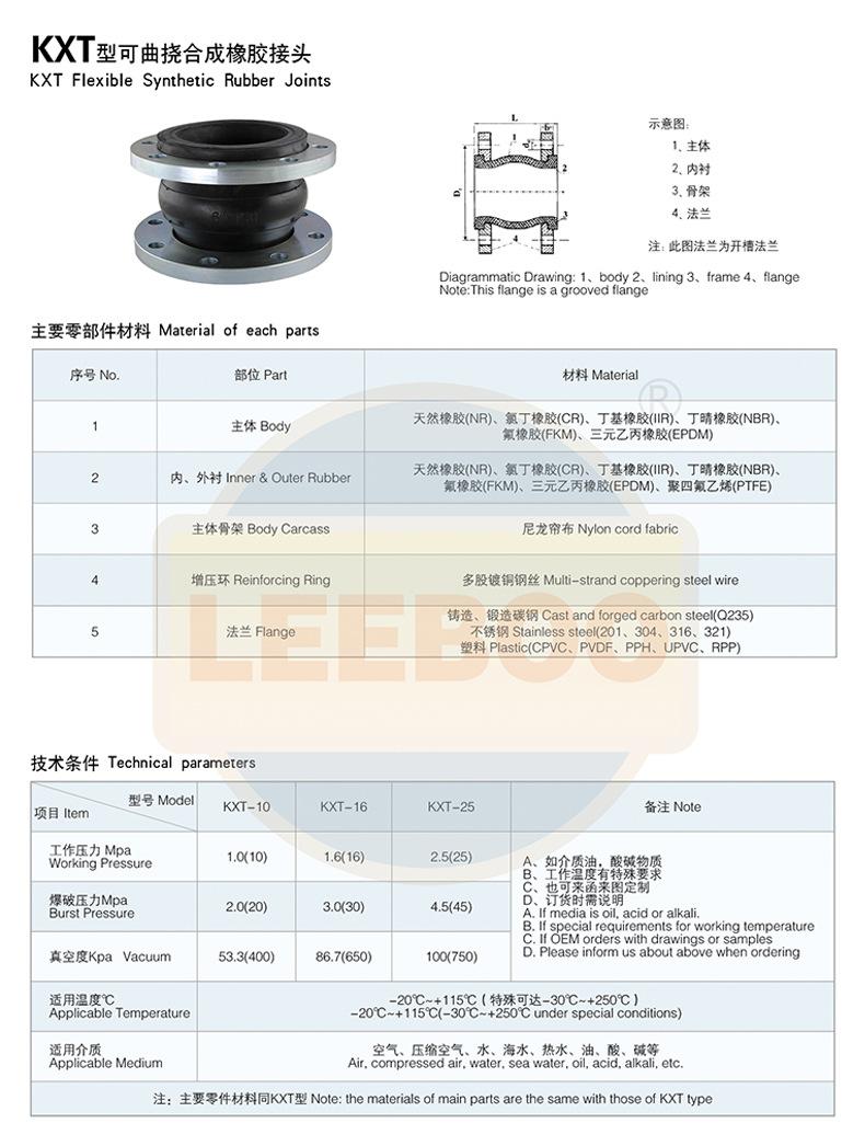 配套法兰橡胶软接头如何选择和安装